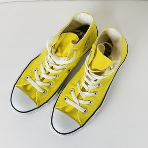 Converse classic yellow high top sneakers